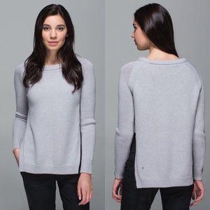 Lululemon Yin to You Light Heather Gray Sweater 2